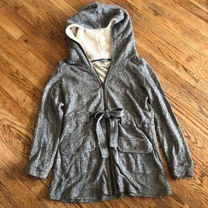 Anthro Sat Sun Grey Hoodie Jacket